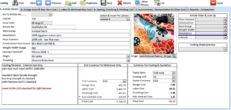 TextileNet Freeware